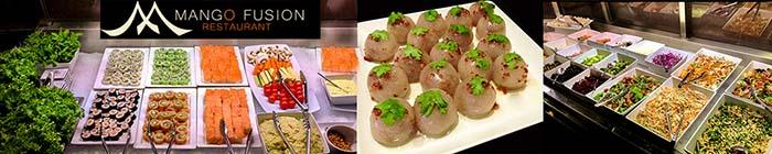 Formule buffet d'entrées à volonté du restaurant Mango Fusion